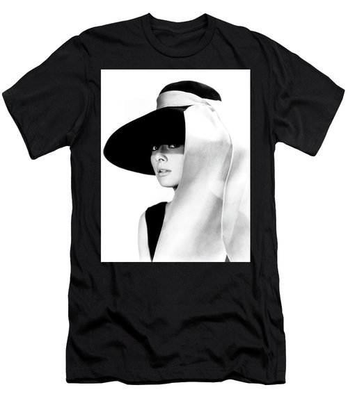 Men's T-Shirt (Athletic Fit) featuring the photograph Audrey Hepburn As Holly Golightly by R Muirhead Art