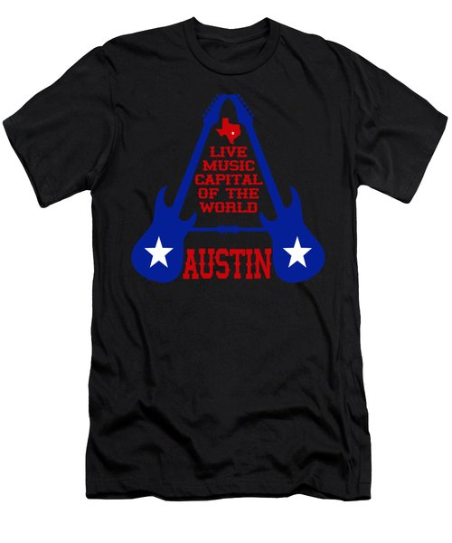 Austin Live Music Capital Of The World Men's T-Shirt (Athletic Fit)