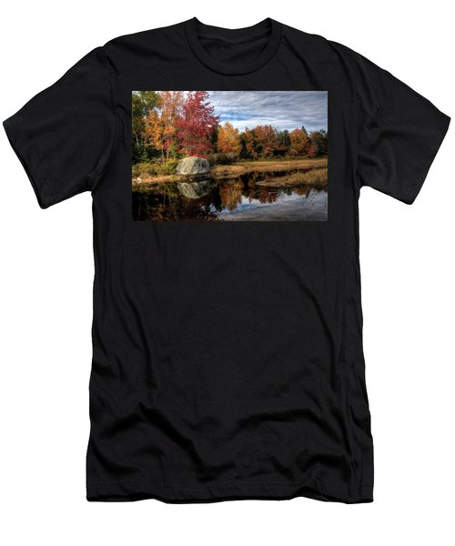 Autumn In Maine Men's T-Shirt (Slim Fit) by Greg DeBeck