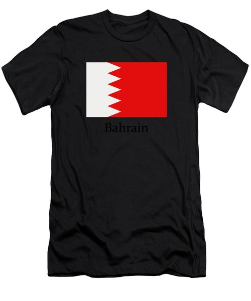 Bahrain Flag Men's T-Shirt (Athletic Fit)