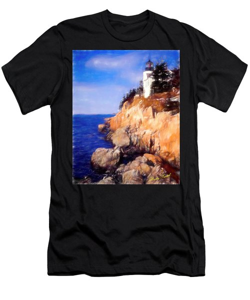 Bass Harbor Lighthouse,acadia Nat. Park Maine. Men's T-Shirt (Athletic Fit)