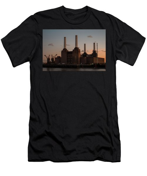 Men's T-Shirt (Athletic Fit) featuring the photograph Battersea Power Station by Stewart Marsden