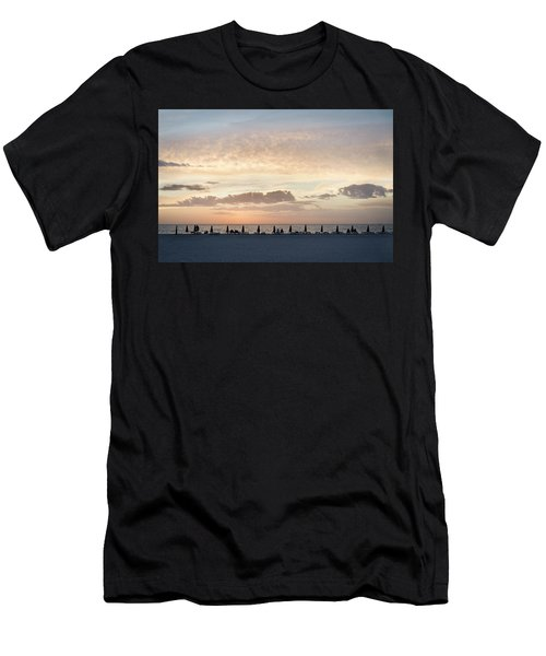 Beach At Sunset Men's T-Shirt (Athletic Fit)