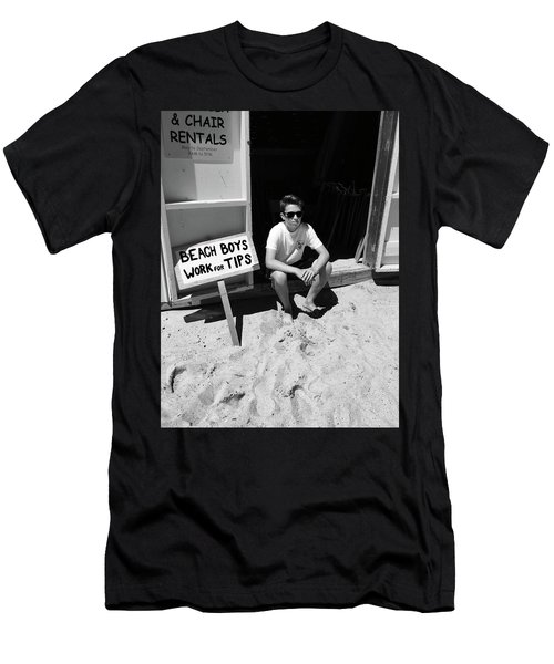 Beach Boys Work For Tips Men's T-Shirt (Athletic Fit)