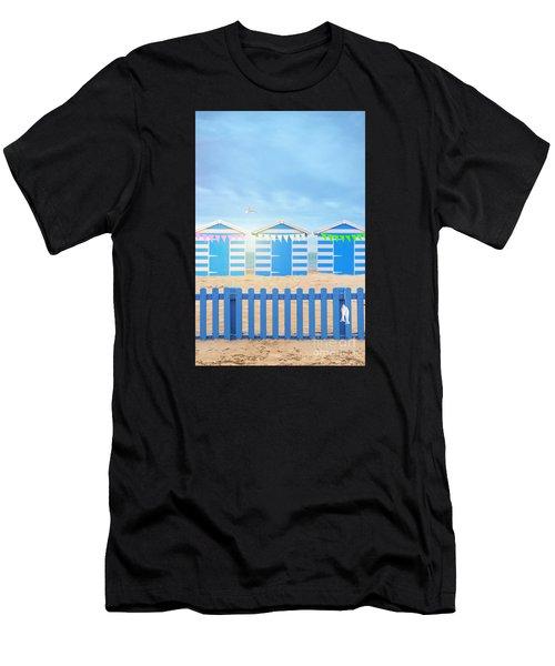 Beach Huts Men's T-Shirt (Athletic Fit)