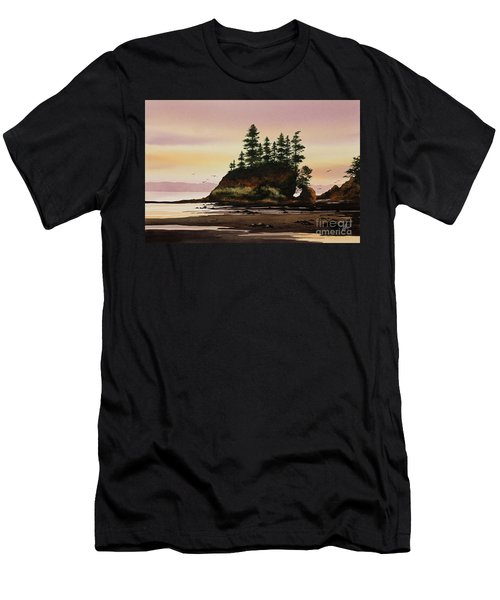 Men's T-Shirt (Slim Fit) featuring the painting Beautiful Shore by James Williamson