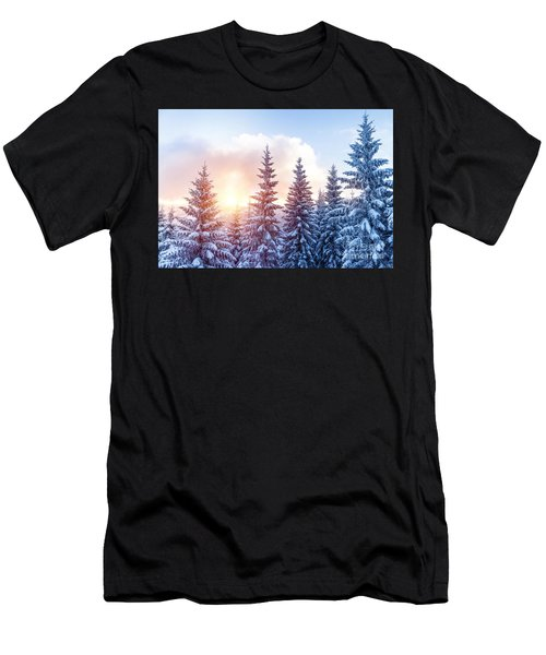 Beautiful Winter Forest Men's T-Shirt (Athletic Fit)