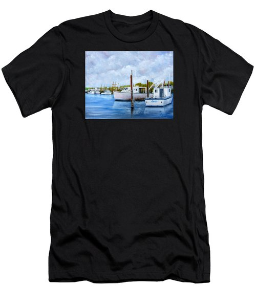 Belford Nj Fishing Port Men's T-Shirt (Athletic Fit)