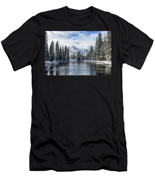 Big Springs In Winter Idaho Journey Landscape Photography By Kaylyn Franks Men's T-Shirt (Athletic Fit)