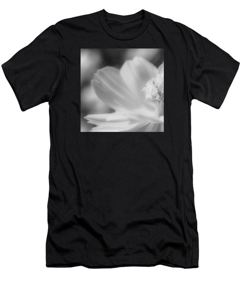 Black And White Flowers Men's T-Shirt (Athletic Fit)