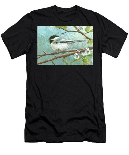 Black Cap Chickadee Men's T-Shirt (Athletic Fit)