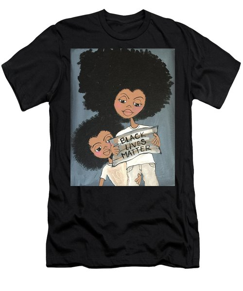 Black Lives Matter Men's T-Shirt (Athletic Fit)
