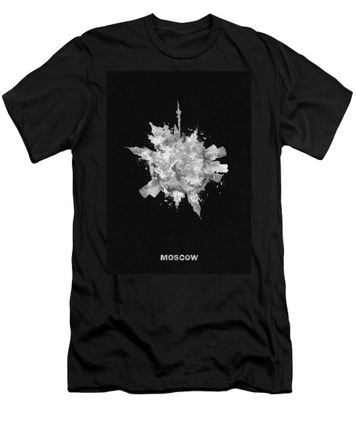 Black Skyround Art Of Moscow, Russia Men's T-Shirt (Athletic Fit)