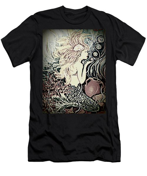 Blowing Bubbles Men's T-Shirt (Slim Fit) by Yolanda Rodriguez
