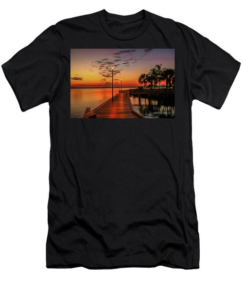 Boardwalk Sunrise Men's T-Shirt (Athletic Fit)