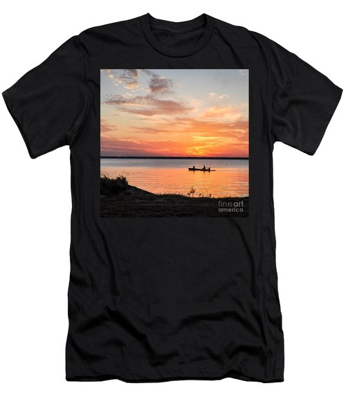 Boating Sunset Men's T-Shirt (Athletic Fit)