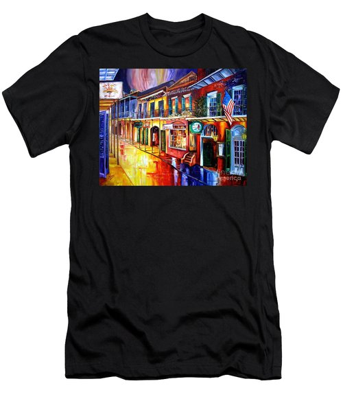Bourbon Street Red Men's T-Shirt (Athletic Fit)