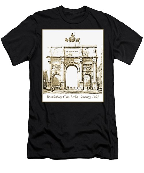 Brandenburg Gate, Berlin Germany, 1903, Vintage Image Men's T-Shirt (Athletic Fit)