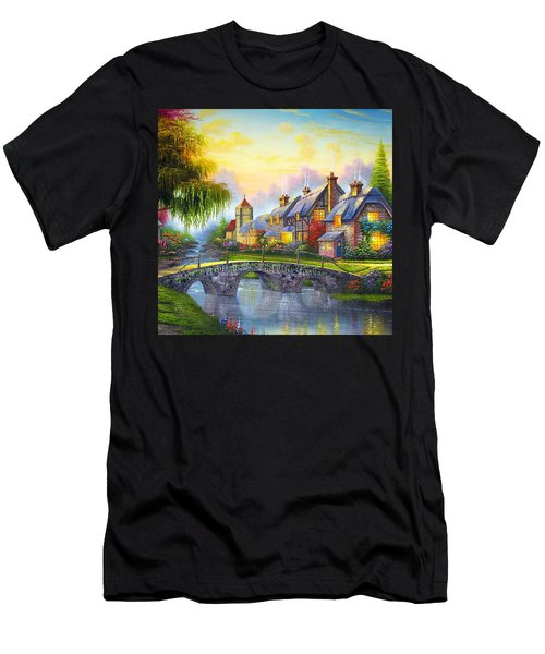 Bridge Over Troubled Waters Men's T-Shirt (Athletic Fit)