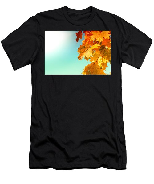 Yellow Autumn White Sun Men's T-Shirt (Athletic Fit)