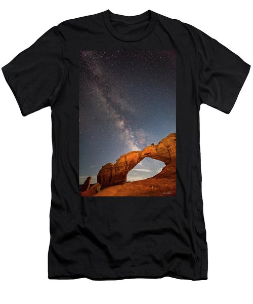 Broken Arch And Milky Way Men's T-Shirt (Athletic Fit)
