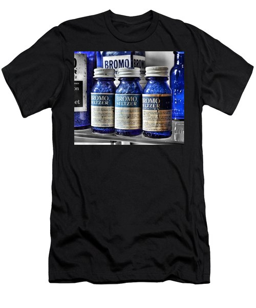 Men's T-Shirt (Athletic Fit) featuring the photograph Bromo Seltzer Vintage Glass Bottles Collection by Marianna Mills