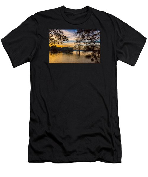 Browns Bridge Sunset Men's T-Shirt (Athletic Fit)