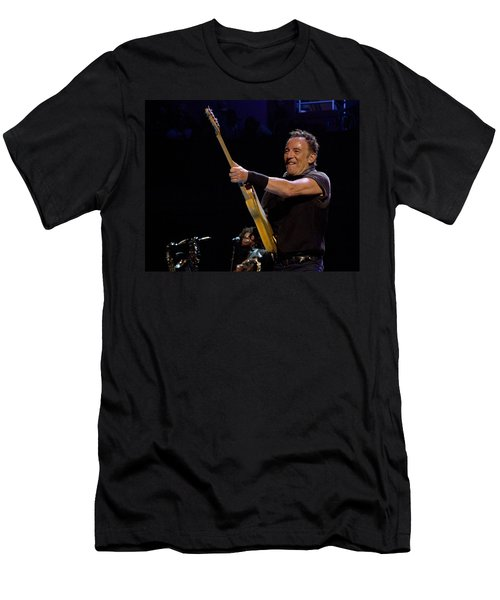 Bruce Springsteen In Cleveland Men's T-Shirt (Athletic Fit)