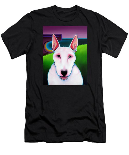 Bull Terrier Men's T-Shirt (Slim Fit) by Leanne WILKES