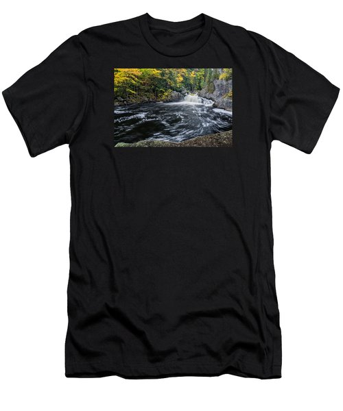 Buttermilk Falls Gulf Hagas Me. Men's T-Shirt (Slim Fit) by Michael Hubley
