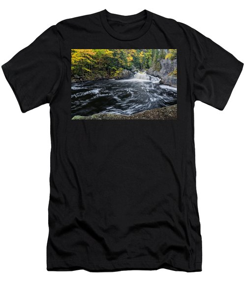 Men's T-Shirt (Athletic Fit) featuring the photograph Buttermilk Falls Gulf Hagas Me. by Michael Hubley