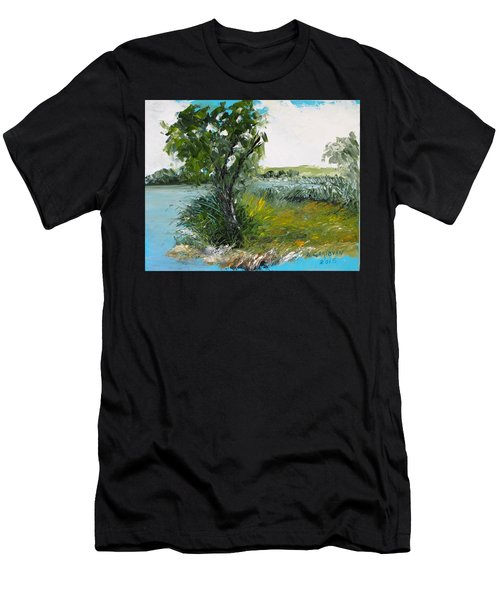 By The Snake River Men's T-Shirt (Athletic Fit)