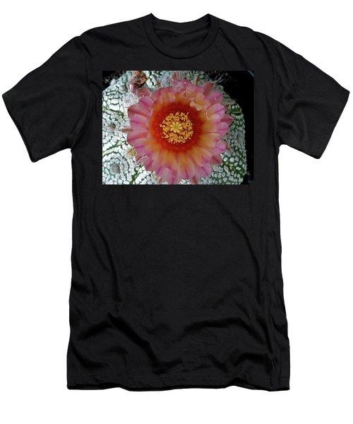 Cactus Flower 5 Men's T-Shirt (Slim Fit) by Selena Boron