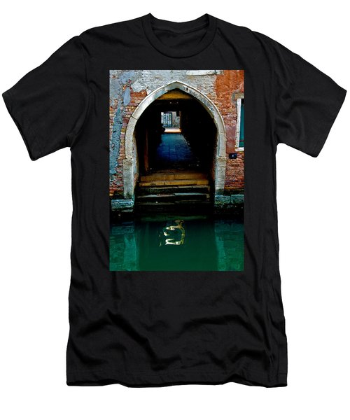 Canal Entrance Men's T-Shirt (Slim Fit) by Harry Spitz