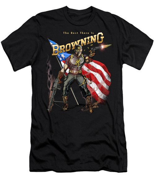 Captain Browning Men's T-Shirt (Slim Fit) by Rob Corsetti