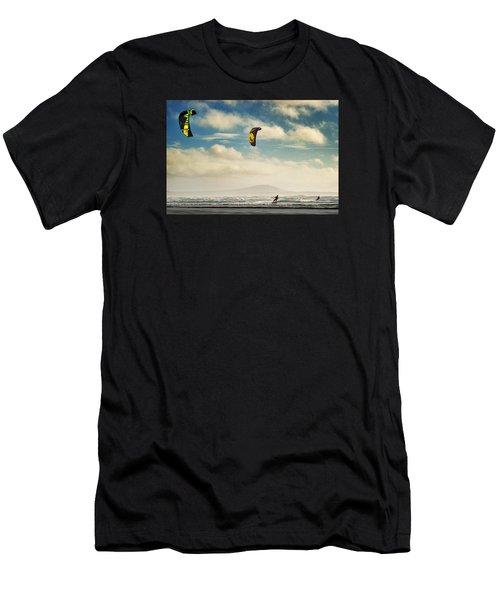 Cefn Sidan Beach 1 Men's T-Shirt (Athletic Fit)