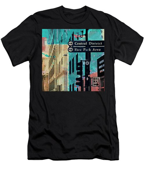 Men's T-Shirt (Slim Fit) featuring the photograph Central District by Susan Stone