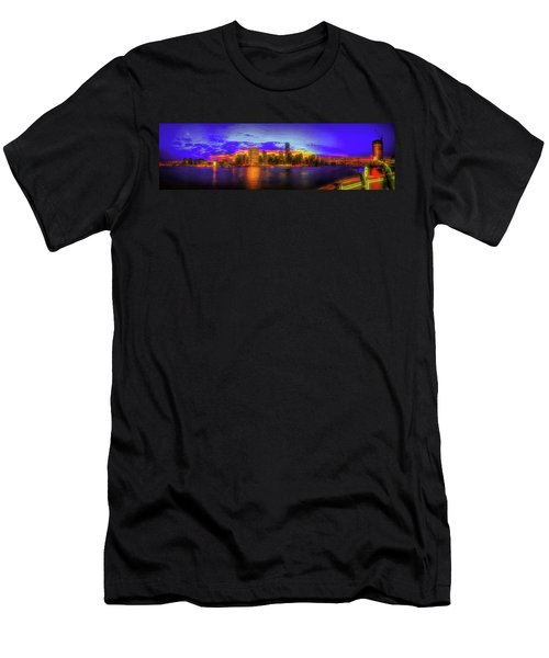 Men's T-Shirt (Athletic Fit) featuring the photograph Chillin' At Gantry by Theodore Jones