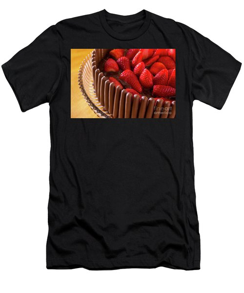 Chocolate And Strawberry Cake Men's T-Shirt (Athletic Fit)