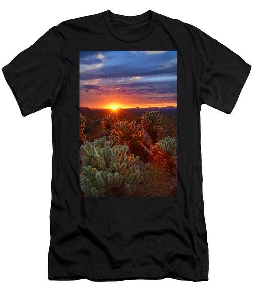 Cholla Sunset  Men's T-Shirt (Athletic Fit)