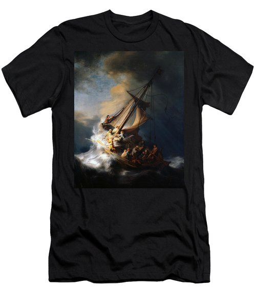 Christ In The Storm On The Lake Of Galilee Men's T-Shirt (Athletic Fit)
