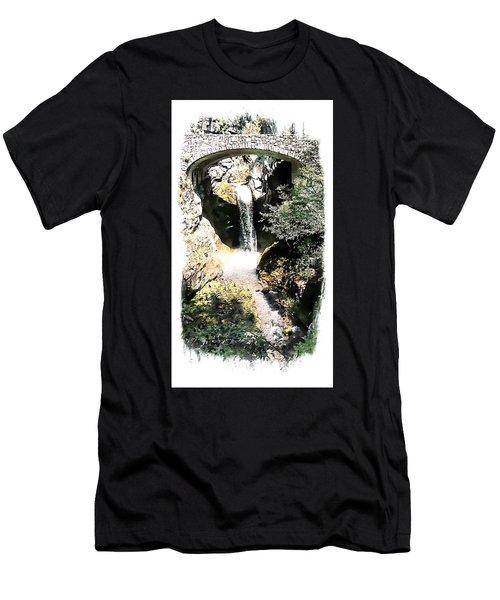 Christine Falls - Mt Rainier National Park Men's T-Shirt (Athletic Fit)