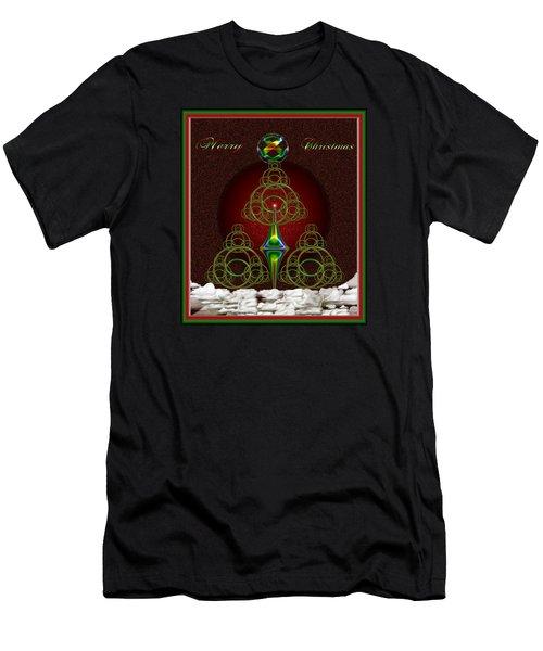 Christmas Greetings Men's T-Shirt (Athletic Fit)