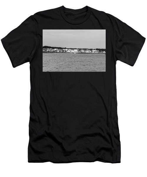 Men's T-Shirt (Athletic Fit) featuring the photograph Coastline At Molle In Sweden by Michael Maximillian Hermansen