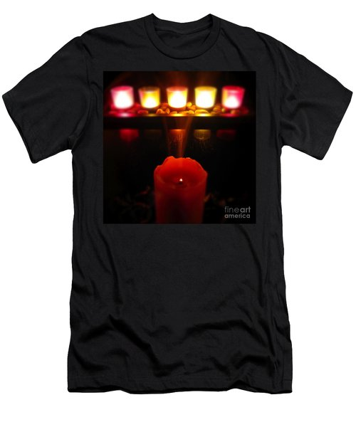 Color In Lights Men's T-Shirt (Slim Fit) by CML Brown