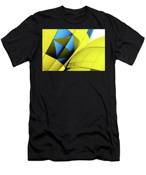 Colorful Abstract Hot Air Balloons Men's T-Shirt (Athletic Fit)