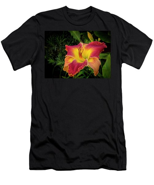 Colorful Lily  Men's T-Shirt (Athletic Fit)