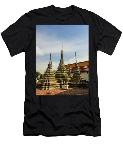 Colorful Stupas At Wat Pho Temple Men's T-Shirt (Athletic Fit)