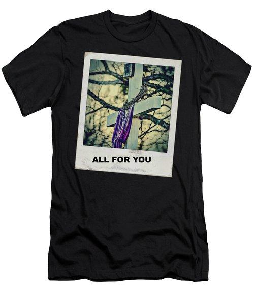 Cross Of Jesus Men's T-Shirt (Athletic Fit)
