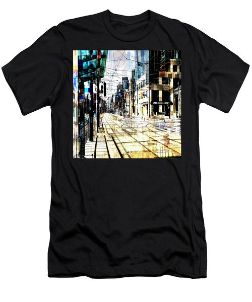 Crossing Spadina Men's T-Shirt (Slim Fit) by Nicky Jameson